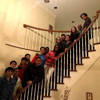 group on people on stairs